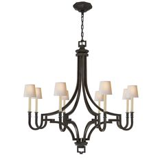 "Foyer, aged iron, Height: 38.75"" Width: 37"", E. F. Chapman for Visual Comfort"