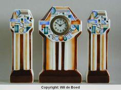 Art Deco clock set