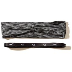 Hollister Headband 2-Pack (€4,65) ❤ liked on Polyvore featuring accessories, hair accessories, black, headband hair accessories, head wrap hair accessories, hair band headband, sport headbands and hair band accessories