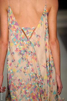 Not sure on the designer, but this dress back is beautiful and the pattern is lovely too  - perfect for summer