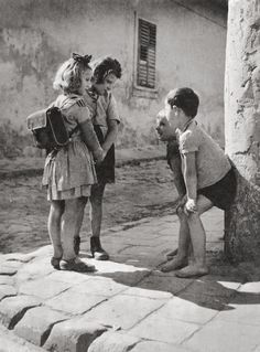 Boys and girls, Budapest, Hungary, 1955.