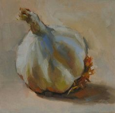 Garlic oil painting. kaliegravesart.com @kalie.graves.art