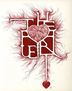 The Heart ~ calligraphy