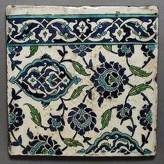 Two tiles, Syria, 17th century