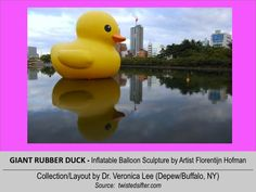 GIANT RUBBER DUCK  (LWH=33'x36'x43')  [2010].12/18 @ JAPAN: Osaka --- inflatable balloon Sculpture floating around the world to spread Peace/Goodwill