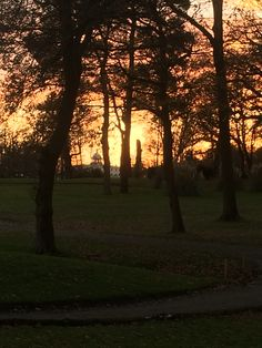 The sun sets at Stoke Park for another day... #sunsets