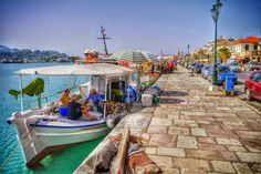 Fishing Boats At Zakynthos Harbour Photography by Alistair Ford Zakynthos Greece, Corfu, Zorba The Greek, Greece Vacation, Acropolis, Fishing Boats, Beautiful Places, Places To Visit, Around The Worlds