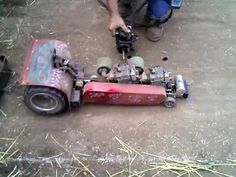 RC Tractor Pull - redneck boys know how to have fun!  #rc #tractor