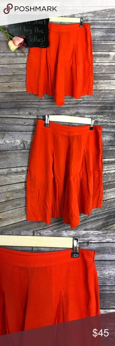 """Anthropologie Sunday in Brooklyn orange shorts Anthropologie Sunday in Brooklyn orange shorts. Flowy viscose blend with pockets. NWT Size 4.  14.5"""" waist.  8.5"""" inseam.  19"""" length.  *101 Anthropologie Shorts"""
