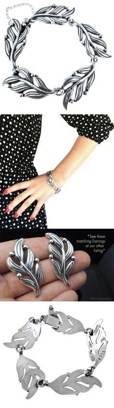 Bracelets 98489: Vintage Design Sterling Silver Leaf Bracelet | Rodriguez Margot De Taxco Mexico -> BUY IT NOW ONLY: $189.95 on eBay!