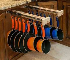 Have these pullout pegs your pots and pans!