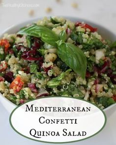 Quinoa and confetti greens accented with savory sun-dried tomatoes, fresh basil, pine nuts and cheese.