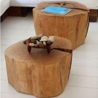 Tavolino in Legno a forma di Tronco