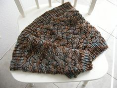 Understory Cowl pattern by Breean Elyse Miller - free pattern - Aran weight on size 10 - many beautiful examples on Ravelry - same lace pattern as Fireside Neckwarmer which is worked flat.