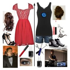 """""""Female Tony Stark// Iron Man"""" by brendon-urie-enthusiast ❤ liked on Polyvore featuring LE3NO, James Perse, Reactor, Converse, STELLA McCARTNEY, NARS Cosmetics, Essie, MAC Cosmetics, BillyTheTree and Coltellerie Berti"""