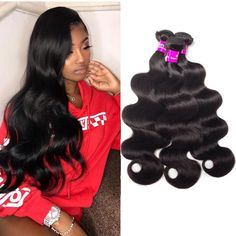 """La'Mo Hair on Instagram: """"💖 #shepretty👸 Body Wave 4 Bundles Deal🔥 Bundle Deals ALERT💥. Up to 65% Entire Store + Use Code: SPRINGSALE to get Extra $10 OFF🔥  Link in…"""" Weave Hairstyles, Straight Hairstyles, Buy Hair Extensions, Best Virgin Hair, Virgin Hair Bundles, Remy Human Hair, Body Wave, Lace Wigs, Kinky"""