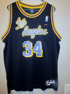 Shaquille O'Neal Los Angeles Lakers Nike Jersey , Size XL Length +2 - Basketball-NBA
