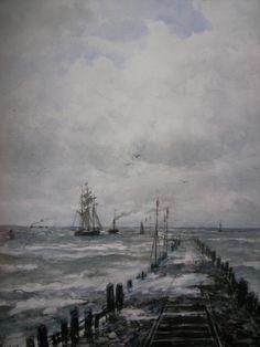 Noorderpier door Mesdag