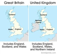 16 awesome different images different meaning, english languagegreat britain vs uk