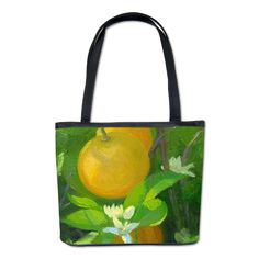 Oranges And Blossoms Bucket Bag
