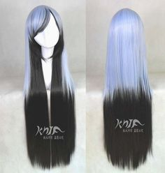 Cosplay wigs black mix blue gradient ramp 39 nches by Homewigs Costume Wigs, Cosplay Wigs, Anime Cosplay, Costumes, Cute Hairstyles, Straight Hairstyles, Anime Hairstyles, Kawaii Wigs, Anime Wigs