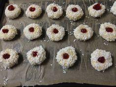 Coconut Nests – cookingbakingandstuff Vanilla Essence, Strawberry Jam, Biscuit Recipe, Nests, Christmas Cookies, Biscuits, Coconut, Baking, Desserts