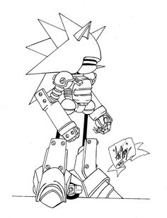 Mecha Sonic Coloring Pages