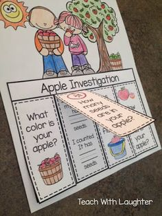 Apple and Pumpkin Investigation flip books - and it's editable to modify for the needs of your students!