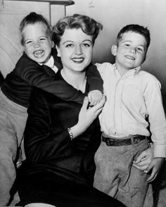 Precious Angela Lansbury with children Deidre & Anthony.