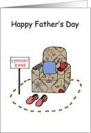 Father's Day Cartoon Comfort Zone Armchair Fun.