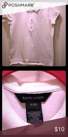 White girls Pink Polo Beautiful girls white Polo, Pink Pony Polo by Ralph Lauren Shirts & Tops