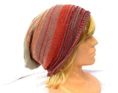 knitted cotton hat, knit colorful cap, striped beanie, knitting accessories,