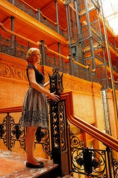 Ned's apartment building: The Bradbury Building, Los Angeles, California