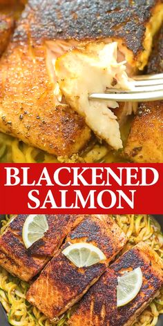 Perfectly seasoned, tender, and very easy to make, this Blackened Salmon makes a great dinner, worthy of a special occasion. Blackened Fish Recipe, Blackened Salmon, Seafood Recipes, Dinner Recipes, Cooking Recipes, Healthy Recipes, Fish Crockpot Recipes, Salmon Dishes, Fish Dishes