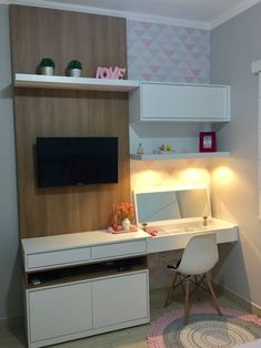 The Best 2019 Interior Design Trends - Interior Design Ideas Home Bedroom, Bedroom Decor, Girl Bedroom Designs, Dream Rooms, New Room, Decor Interior Design, Girl Room, Sweet Home, Home Decor