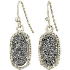 Kendra Scott Lee Earring (Gold/Platinum Drusy) Earring ($65) ❤ liked on Polyvore featuring jewelry, earrings, druzy jewelry, 14k gold earrings, druzy earrings, gold earrings and platinum jewelry