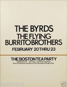 boston concert posters | The Byrds 1969 Boston Tea Party Concert Handbill Poster | eBay