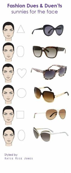 83ac298d63a To find the most flattering sunnies for your face...counter-balance it