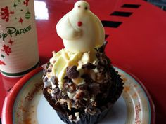 Baymax cupcake from Studio Catering Company in Hollywood Studios. Yum!
