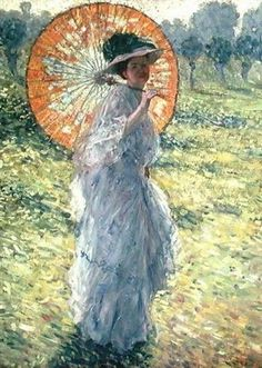 Frederick Frieseke (1874-1939) Woman with a Parasol