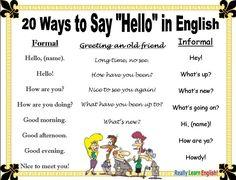 Voici 20 façons de dire l'équivalent de 'hello' en anglais... Retenez- les bien!