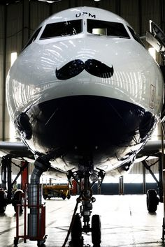 The big picture: BA supports 'Movember' with A319 moustache - Business Traveller