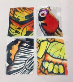 Dysperse dye samples textiles A Level Cardinal Newman College Over The Moon, Textile Design, Surface Design, Project Ideas, Projects, Art Ideas, Butterfly, Textiles, Dyes