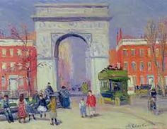 size: Giclee Print: Washington Square Park, by William James Glackens : Ashcan School, Gramercy Park, Williams James, Washington Square Park, Park City, Gradient Color, Find Art, Framed Artwork, Oil On Canvas