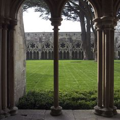 The Salisbury Cathedral cloister, in England. Photo courtesy Dominic Roberts/Continuity in Architecture.  http://design-related.tumblr.com/post/35485110055/the-salisbury-cathedral-cloister-in-england