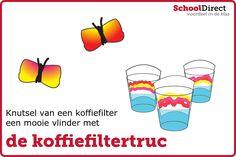 Knutsel een mooie vlinder door gebruik te maken van de koffiefiltertruc!