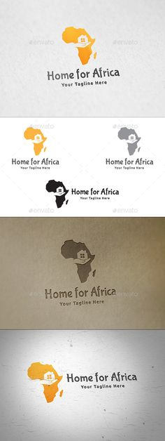 Home for Africa  Logo Design Template Vector #logotype Download it here:  http://graphicriver.net/item/home-for-africa-logo/12848721?s_rank=1376?ref=nesto