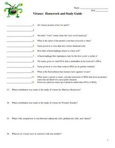 Printables Virus Worksheet infectious diseases unit virus bacteria parasites 1700 slide this is a 4 page document consisting of 39 questions varying formats these cover the following topics concerning viru