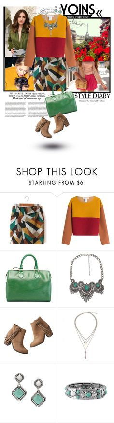 """""""romwe clourful"""" by pinkaddicted ❤ liked on Polyvore featuring moda, Philosophy di Lorenzo Serafini, Louis Vuitton, BKE, maurices y yoins"""