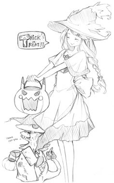 One more Pokemon-related post since that seems to be the trend for todayΘεΘ This was a sketch I did for Halloween as a prompt within my group of friends. An OC dressed up as Mismagius and zombie Breloom loolwhyisitsofug;; (Source: myrollingstar)